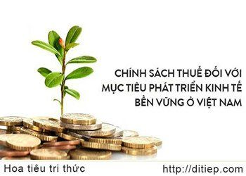 Chính sách thuế đối với mục tiêu phát triển kinh tế bền vững ở Việt Nam
