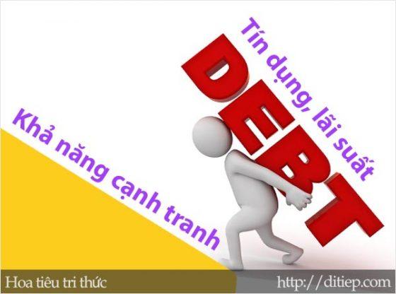 Tác động của tín dụng, lãi suất đến khả năng cạnh tranh của sản phẩm